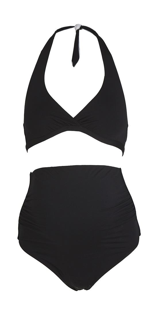 bikini nero con vita alta